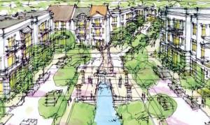 Renderings show planned development at Altoona's Prairie Crossing.