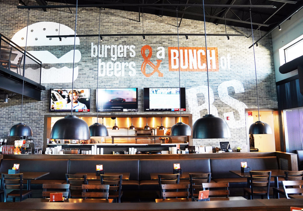 Interior of Burger Shed