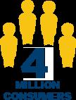 4 million consumers icon